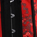 Red Strapless Embroidery Shaper Corset