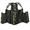 Jacquard Embroidery Steel Boned Shaper Corset With Straps