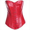 PU Leather Court Shaper Corset With Steel Button