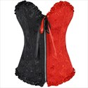 Sweetheart Color Contrast Embroidery Shaper Corset