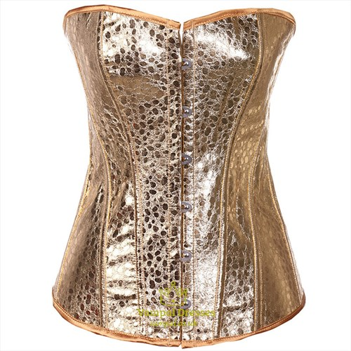 Gold Strapless Court Shaper Corset With Boning