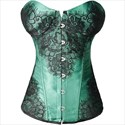 Sweetheart Lace Applique Court Shaper Corset With Boning