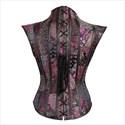 Gothic Steampunk Dark Knight Jacquard Embroidery Shaper Corset
