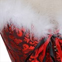 Corsetto Natale Christmas Role Play Jacquard Shaper Corset With Feathers