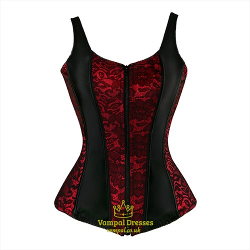 Lace Embellished Court Shaper Corset With Straps