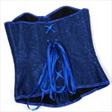 Royal Blue Jacquard Embroidery Court Shaper Corset
