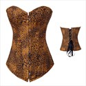 Leopard Print Court Shaper Corset With Boning