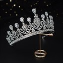 Alloy Bridal Tiara Princess Headpieces With Rhinestone Accents
