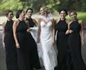 Black Mermaid High Neck Halter Long Backless Bridesmaid Dress