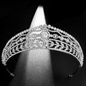 Zircon Court Princess Headpieces Bridal Tiara With Rhinestone Accents