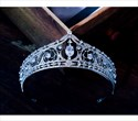 Alloy Court Princess Crown Bridal Tiara With Rhinestone Accents