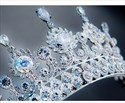 Captivating Zircon Rhinestone Court Princess Crown Bridal Tiara