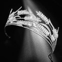 Ears Of Wheat Princess Crown Bridal Tiara With Rhinestone Accents