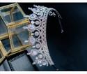 Glamorous Princess Crown Bridal Tiara With Rhinestone Accents