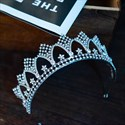 Stunning Alloy Princess Crown Bridal Tiara With Rhinestone Accents