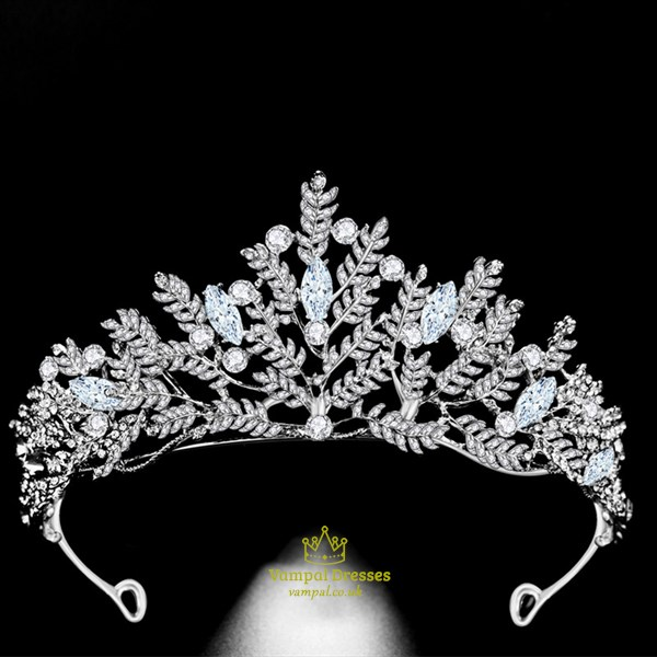 Glittery Alloy Hand-Made Rhinestone Princess Crown Bridal Tiara