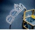 Shinning Alloy Zircon Princess Crown Bridal Tiara