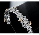 Vintage Rhinestones Princess Bridal Headbands with Golden butterfly