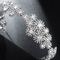 Alloy Rhinestones Flower Embellishment Princess Bridal Headbands