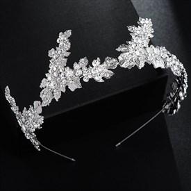 Romantic Alloy Rhinestones Princess Headpieces Bridal Headbands