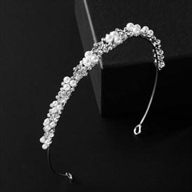 Captivating Alloy Princess Headpieces Bridal Headbands With Pearls