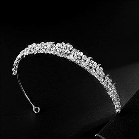 Alloy Princess Headpieces Bridal Headbands With Rhinestone Accents