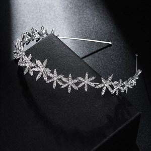 Floral Rhinestone Princess Headpieces Bridal Headbands