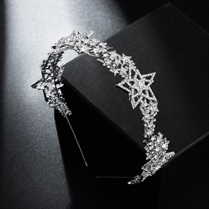 Star Alloy Princess Rhinestone Headpieces Bridal Headbands