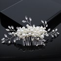 Pearl Hair Comb With Rhinestone Accents