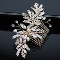 Alloy Pearl Hair Comb With Rhinestone Accents
