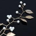 Alloy Gold Pearl Headpieces Leaf Hair Vine
