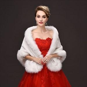 Winter Faux Fur Wedding Boleros Bridal Wraps Evening Jackets