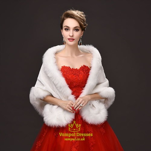 Winter Faux Fur Wedding Boleros Bridal Wraps Evening Jackets