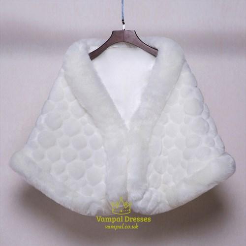 Faux Fur Winter Wedding Cloak Bridal Wraps