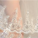 Double Layer Sequin Lace Applique Wedding Veil