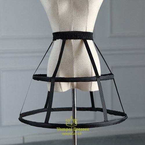 Two Steel Birdcage Lolita Short Adjustable Petticoat