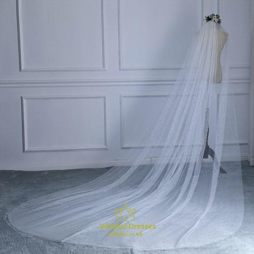 Glittery Star One-Tier Wedding Veil