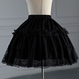 Maid Costume Lolita Short Adjustable Fluffy Petticoat With Boned