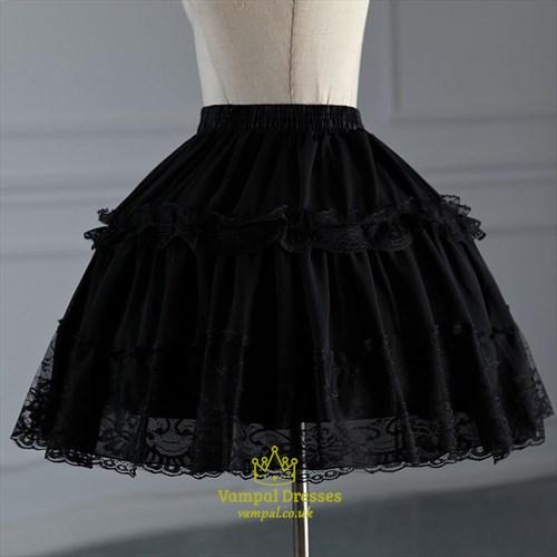 Maid Costume Lolita Short Adjustable Fluffy Petticoat With Boned