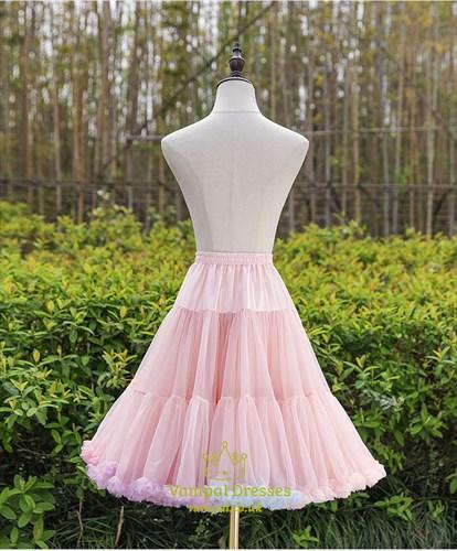 Rainbow Cloud Lolita Cosplay Short Fluffy Petticoat Without Bone