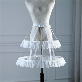 Lolita Birdcage Cosplay Ruffled Adjustable Petticoat With Bone