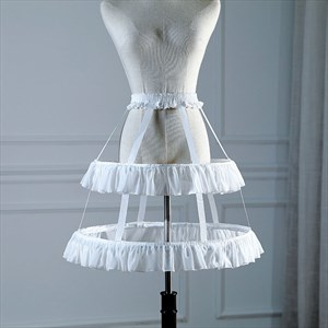 Lolita Birdcage Cosplay Ruffled Adjustable Petticoat With Bone