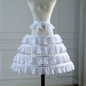 Lolita Birdcage Ruffled Adjustable Petticoat With Bone