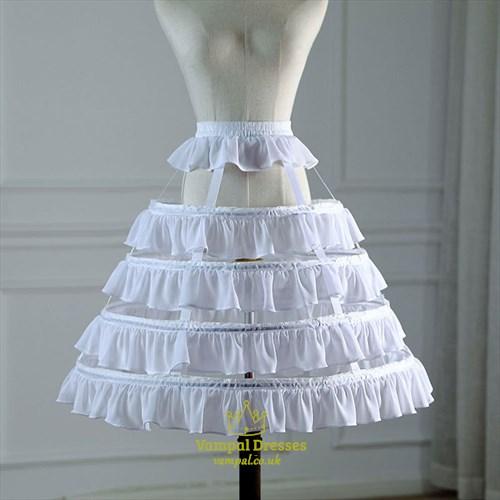 Lolita Birdcage Ruffled Adjustable Petticoat With Bone