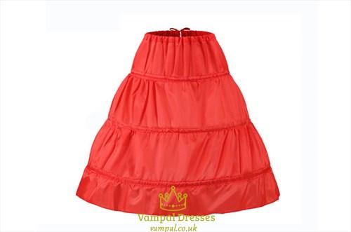 Princess Flower Girl's  Hoop Petticoat Underskirt