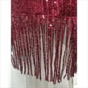 Burgundy Sequin V-Neck Sleeveless Short Prom Dresses With Tassels