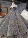 Stunning Sequin Princess Ball Gown Flower Girl Dresses