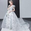 Flower Girl V-Neck Sleeveless Embellished Lace Overlay Dress