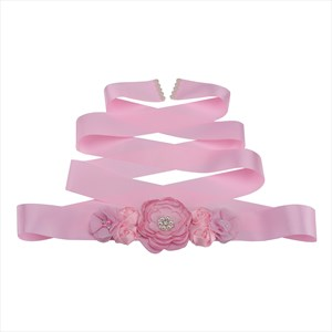 Flower Baby Shower Mom-To-Be Ribbon Sash Bridesmaid Sash