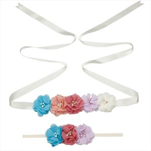 Floral Baby Shower Mom-To-Be Ribbon Bridesmaid Sash